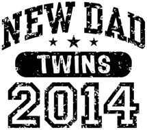 New Dad Twins 2014 t-shirt