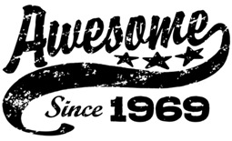 Awesome Since 1969 t-shirt