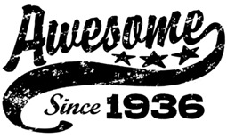 Awesome Since 1936 t-shirt