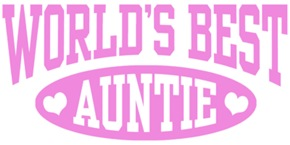 World's Best Auntie t-shirts