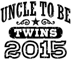 Uncle To Be Twins 2015 t-shirt
