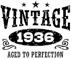 Vintage 1936 t-shirts