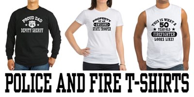 Police And Fire t-shirts