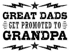 Great Dad's Get Promoted To Grandpa t-shirts