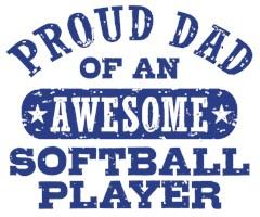 Proud Softball Dad t-shirts