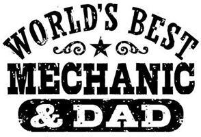 World's Best Mechanic and Dad t-shirts