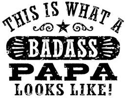 Badass Papa t-shirts