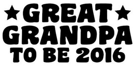 Great Grandpa To Be 2016 t-shirt