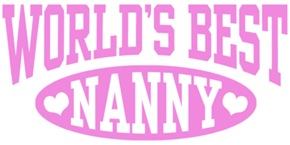 World's Best Nanny t-shirts
