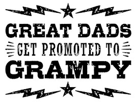 Great Dads Get Promoted To Grampy t-shir