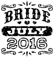 Bride July 2016 t-shirt