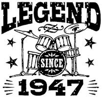 Legend Since 1947 t-shirts