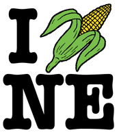I Love Nebraska (corn) t-shirts