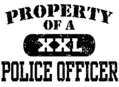 Property of a Police officer t-shirts
