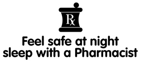 Feel Safe at Night Sleep with a Pharmacist t-shirt