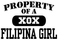 Property of a Filipina Girl t-shirt