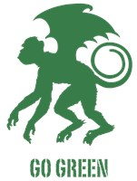 Go Green Flying Monkey