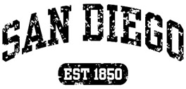 San Diego Est 1850 t-shirt