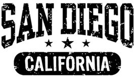 San Diego California t-shirt