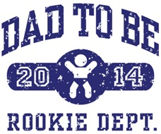 Rookie Dad To Be 2014 t-shirts