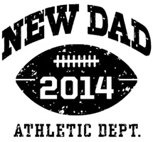 New Dad Football 2014 t-shirt