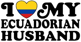 I Love My Ecuadorian Husband t-shirts