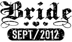 Bride September 2012 t-shirts
