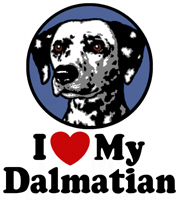 I Love My Dalmatian t-shirt