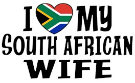 I Love My South African Wife t-shirts