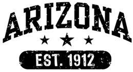 Arizona Est. 1912 t-shirts