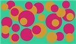 Green Pink Gold Dots