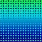 Blue Green Dots Full Fade