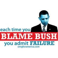 Blaming Bush Admits Failure