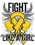 Childhood Cancer Ultra Fight Like a Girl Shirts