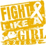 Appendix Cancer Burnout Fight Like a Girl Shirts