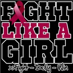Multiple Myeloma Sporty Fight Like a Girl Shirts