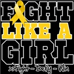 Childhood Cancer Sporty Fight Like a Girl Shirts