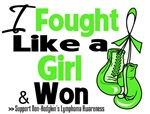 I Fought Like a Girl Non-Hodgkin's Lymphoma Shirts