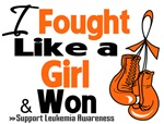I Fought Like a Girl Leukemia Shirts