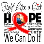 AIDS Hope Fight Like a Girl Shirts