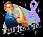Rosie Riveter Fight Like a Girl General Cancer