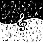 stylish random musical notes