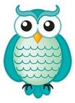 Cute Aqua Owl