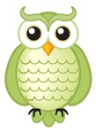 Cute Green Owl