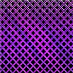 Elegant Black Purple Quatrefoil Pattern