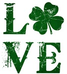 Vintage Shamrock Love