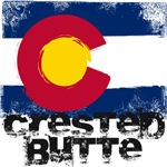 Crested Butte Grunge Flag