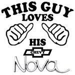 This Guy Loves his Chevy Old Nova
