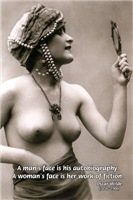 Vintage Erotic Art: Fiction Portrait of Woman
