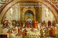 Raphael: school of Athens Philosophers Painting